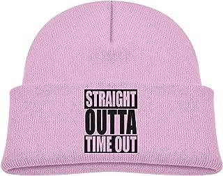 Kids Warm Knitted Hat Straight Outta Timeout Beanie