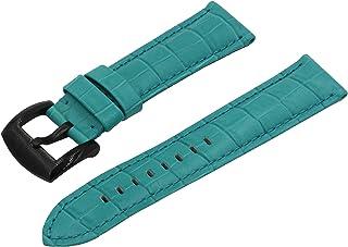 Swiss REIMAGINED Watch Band - Crocodile Grain Leather - Brushed Black Buckle