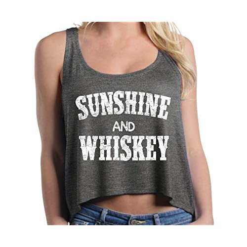 1426bee24e673 Shop4Ever Sunshine and Whiskey Boxy Tank Top Drinking Crop Tops