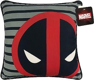 Jay Franco Marvel Deadpool Decorative Pillow, Gray/Red