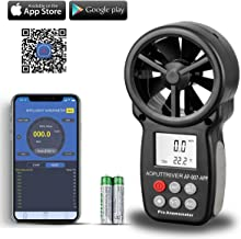 AOPUTTRIVER Digital Anemometer Handheld Wireless Bluetooth Vane Anemometer Wind Speed Meter Gauges for Measuring Wind Speed,Temperature and Wind Chill with Backlight and Max/Min(AP-007APP+Tripod)
