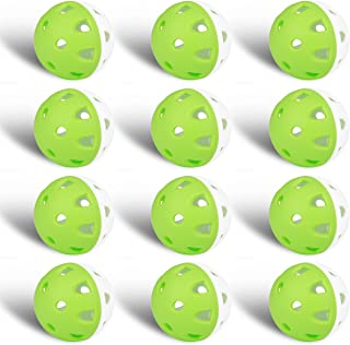 Champkey IMPACTECH Rubber Practice Golf Balls (Pack of 12 or 24 Pcs) - Limited Flight,Indestructible and Resistant to Dents Golf Ball Ideal for Indoor or Outdoor Training
