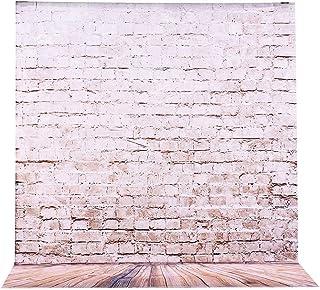 2 x 3 m telón de fondo para fotografía en tejido profesional fondo fotográfico, BDDFOTO fondo de madera con fondo de flore...