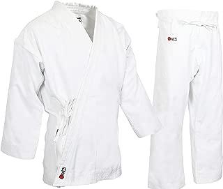MACS Super Heavyweight Karate Uniform - White Professional Kimono - Advanced 100% Cotton 14oz Karate Gi - Perfect for Competition or Training