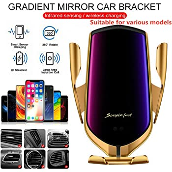 Ohyoulive Car Wireless Charger Suction Cup Bracket Intelligent Induction Car Bracket for 4 inch To 6.5 inch Screen Model Wireless Charger Automatic Intelligent Induction Navigation Bracket