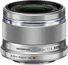 Olympus M.Zuiko - Objetivo digital 25 mm F1.8, longitud focal fija rápida, apto para todas las cámaras MFT (modelos olympus OM - D & Pen, serie G de Panasonic), plata