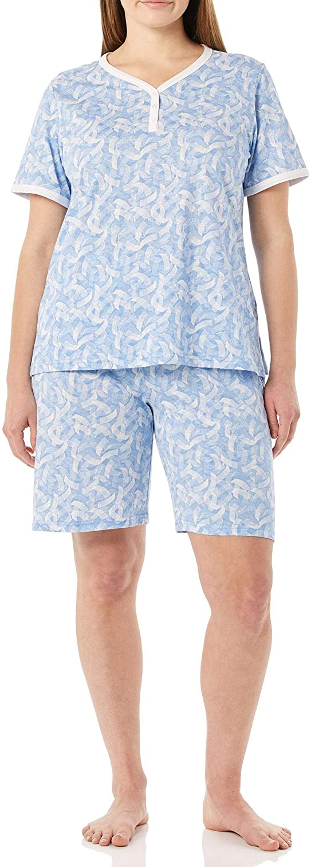 AmeriMark Print Knit PJ Sleepwear Two Piece Pajama Short Set for Women