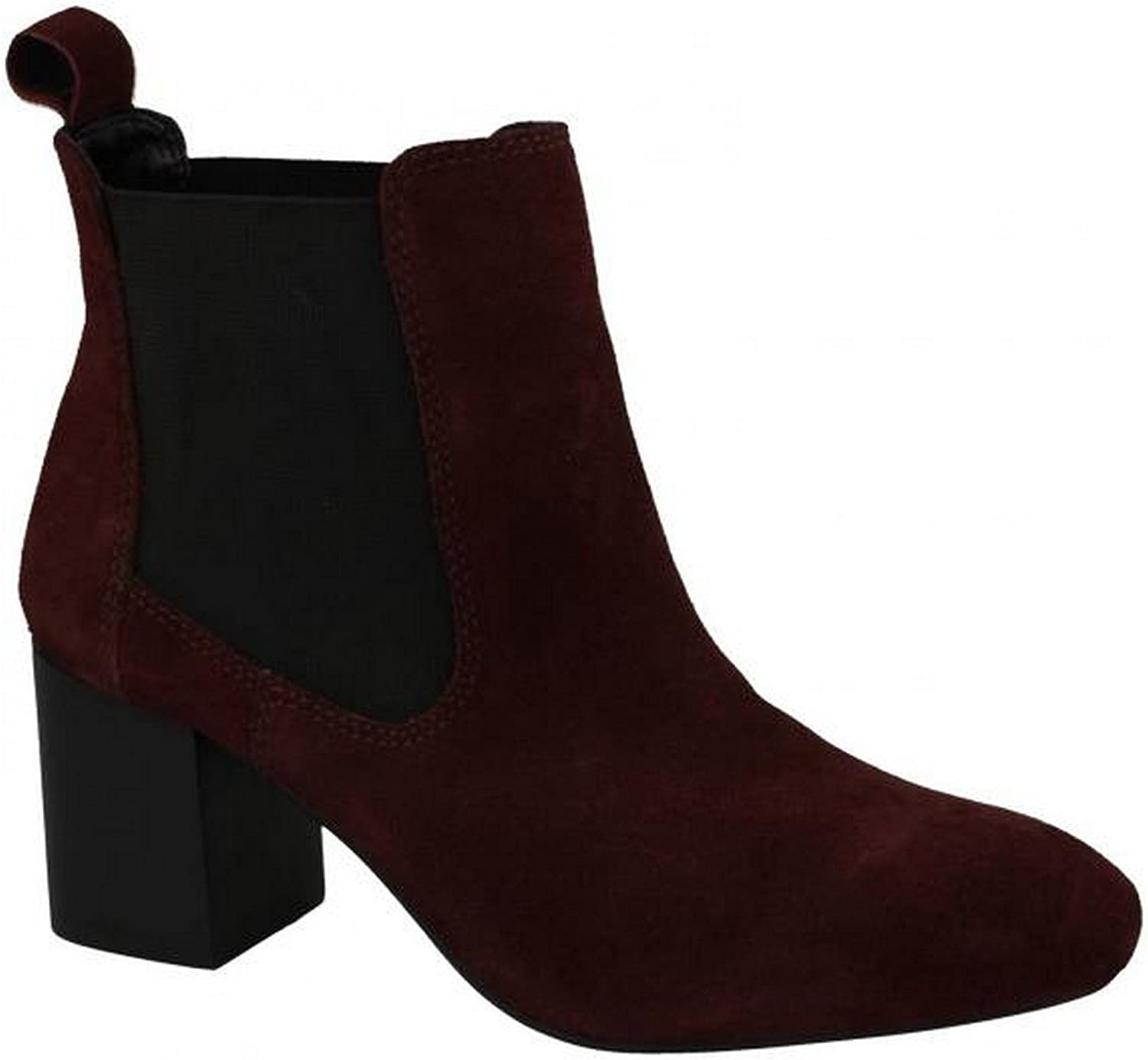 Leather Collection Womens Ladies Mid Heel Twin Gusset Ankle Boots