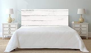 Cabecero Cama Cartón Ecológico Nido de Abeja Imitación Madera Blanca Impresión Digital 110x60 cm | Varias Medidas | Cabecero Ligero, Elegante, Resistente y Económico |