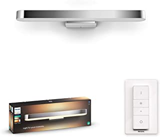 Philips Hue Adore badkamerspiegellamp - IP44 - Duurzame LED Verlichting - Warm tot Koelwit Licht - Incl. dimmer switch - V...
