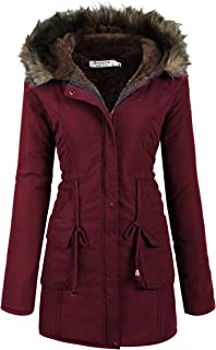 Womens Hooded Warm Winter Coats with Faux Fur Lined...