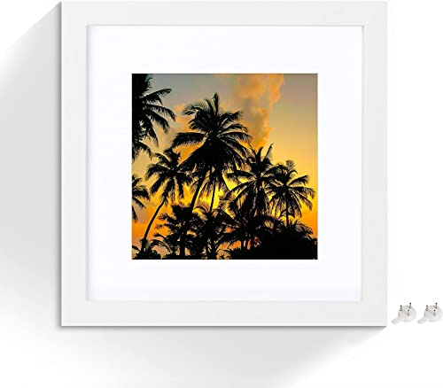 wholesale netuera 8x8 Picture Frames 4x4 5x5 with Mat outlet online sale and 8x8 without Mat for outlet online sale Wall Mounting and Table Top 1 Pack online