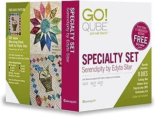 AccuQuilt GO! Qube Serendipity by Edyta Sitar Specialty Die Set 55783
