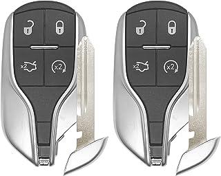 Remote Star Car Key Fob Replacement For 2014 2015 2016 2017 Maserati Quattroporte Ghibli Smart Remote FCCID:M3N-7393490;By Auto Key Max (2)