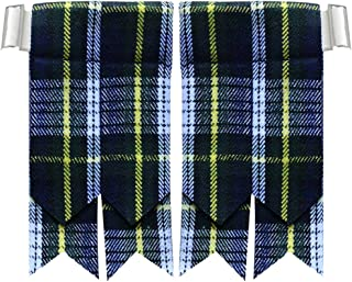 AAR Products Kilt Flashes with Heavy Buckle Elastic Adjusters Fit, We Have More Then Tartans Kilt Flashes