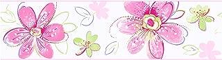 York Wallcoverings Candice Olson Kids Bohemian Floral Border, Pastels