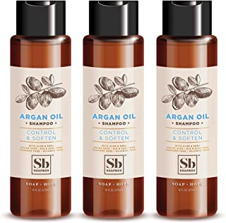 SoapBox Soaps Shampoo, Argan Oil with Shea Butter, 3 Count