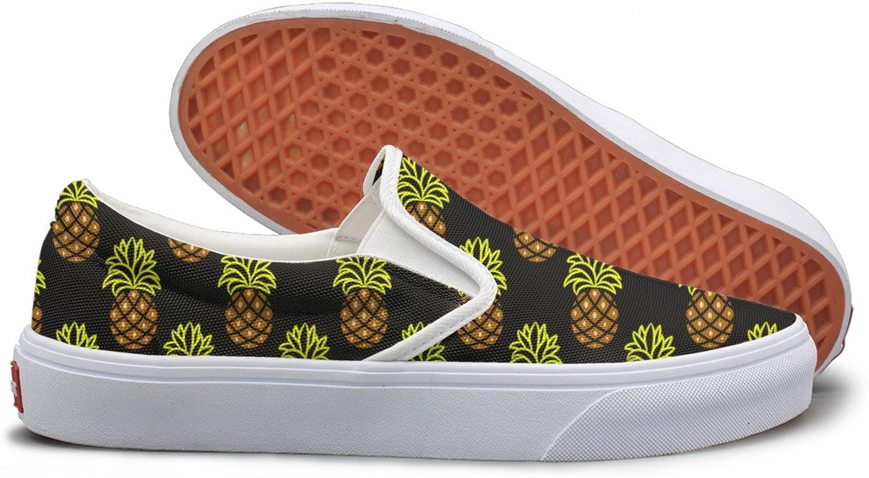 Pineapple Green And Brown Dark Walking Sneakers For Women