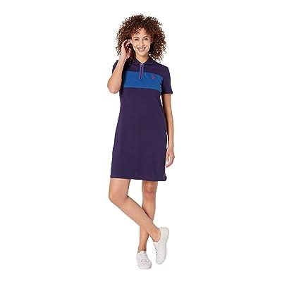U.S. POLO ASSN. Chest Zip Pleated Dress (Evening Blue) Women