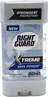 Right Guard Xtreme 4 Ounce Gel Max Power (118ml) (3 Pack)