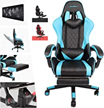 AUSELECT Gaming Chair Ergonomic High Back Computer Chair Racing Style Height Adjustment, Headrest and Lumbar Support E-Spo...