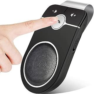 SZBAYO handsfree Bluetooth car Kits, Wireless in Car Speaker with AUTO Power On Motion Sensor, Bluetooth in-Car Visor Speakerphone for Smartphones, SIRI Google Assistant, GPS, Music