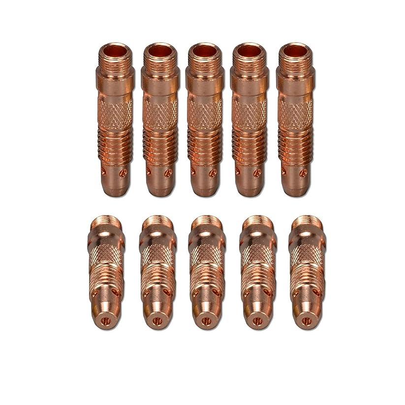 評議会類人猿光景10個 TIGコレット本体 10N32 2.4mm SR DB PTA WP 17 18 26 TIG溶接トーチ用 消耗品