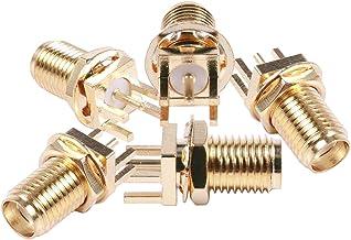 Eightwood WLAN Adaptador Conector RP-SMA de PCB DIY Crimp Conector 10 Unids para m/ódulo inal/ámbrico RG174 RG316 LMR100 Cable RF