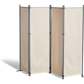 GRASEKAMP - Biombo Separador para Balcones, 4 Piezas, Color Beige: Amazon.es: Hogar