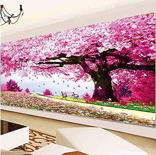 Hand Paints Point Drill, Diamond Painting,Diamond Cross Stitch, Sakura Tree,Landscape,Diamond Embroidery, Diamond Mosaic Kit@30X90Cm