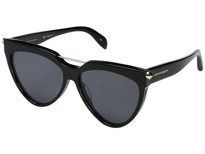 Alexander McQueen  AM0087S (Black/Grey) Fashion Sunglasses