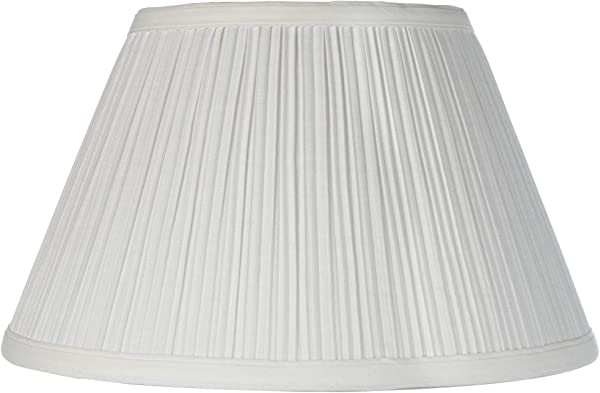 Downbridge Antique White Pleated Shade 6 5x12x7 5 Uno Brentwood