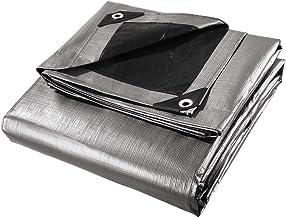 LYLSXY Zwaar zeildoek, versterkte poly Tarp waterdichte blad camping tent cover met oogjes slijtvast/zilver/2.4x3m