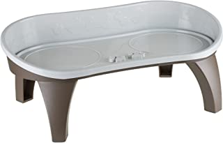 Elevated Pet Feeding Tray with splash guard and non-skid feet 21in x 11in x 8.5in by PETMAKER