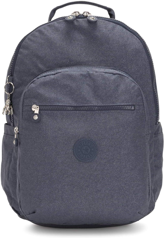 Kipling Women's 正規販売店 Seoul Laptop Backpack 買物 Navy One blue twist g Si