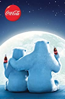 Aquarius Coca Cola Bears Poster, 24 by 36-Inch