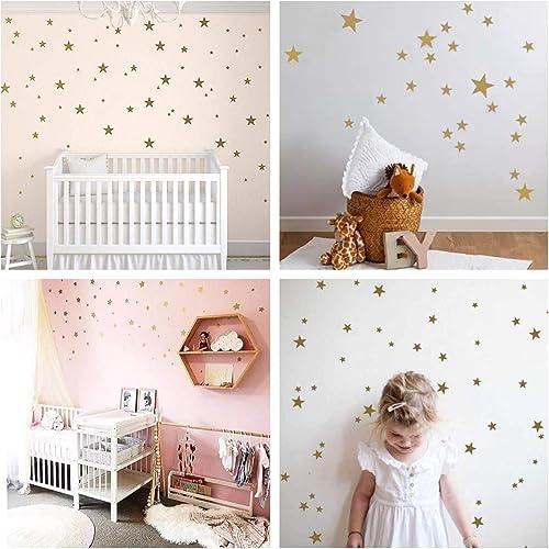 WandSticker4u®- 82 étoiles à coller noir/ argenté/ doré Sticker mural Ciel étoilé Décoration Murale Autocollant décor...