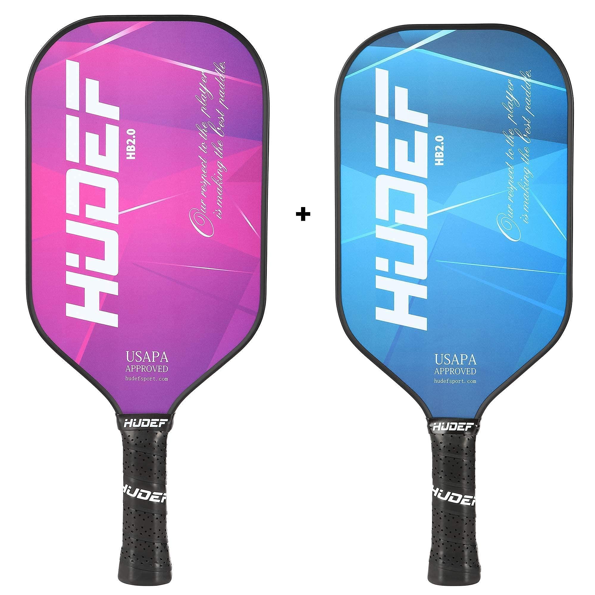 HUDEF HB 2.0 Purple+ Blue Pickleball Paddles Lightweight Gra