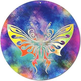 """Sun catcher"""" Farfalla"""" No. 14. Ø 20 cm/simbolo ornamento/immagine della finestra appendiabiti/vetro acrilico infrangibile/..."""