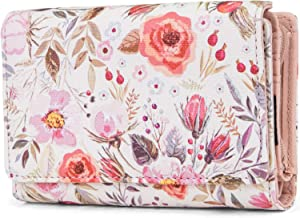 Mundi Small Womens RFID Blocking Wallet Compact Trifold Safe Protection Clutch With Change Purse (Whimsical)