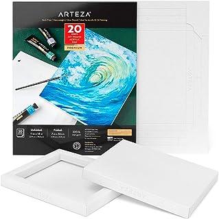 Arteza DIY ramka, akrylowa artystyczna podkładka papierowa, 18 x 20 cm, 20 arkuszy, ciężki papier akrylowy do farby, 220 l...