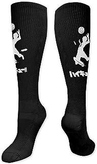 Lsjuee, Haikyuu! Niños y niñas Vestido atlético transpirable cálido con estampado 3d Calcetines altos hasta la rodilla Medias largas antideslizantes
