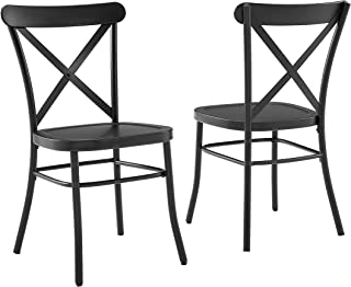 Crosley Camille 2Pc Dining Chair Matte Black