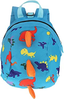 FTVOGUE Mochilas para Niños Mochila de Seguridad para Niños Arnés Bebés de Dibujos Animados de Dinosaurios Lindos Bolso antipérdida para niños Mochila para niños(2)