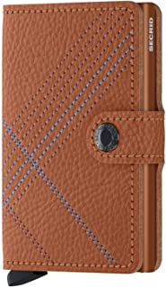 Secrid - Secrid Mini Wallet Stitch Embroidered Vegetable-Tanned leather (Linea Caramello)
