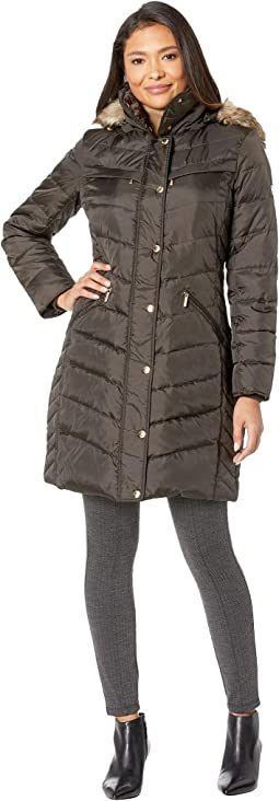 e7cef11f537c0 Michael michael kors zip front down with faux fur trim hood m821883t ...
