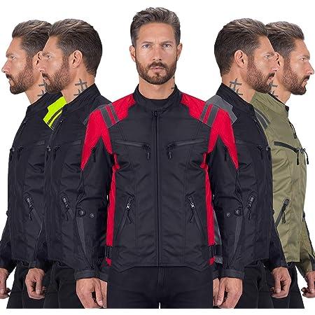 blindada de alta protecci/ón color negro Chaqueta impermeable para motociclistas CJ-9488 para hombre