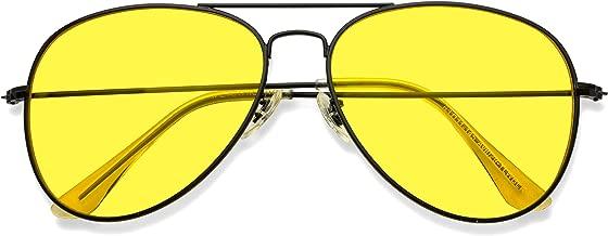 Classic Aviator Style Metal Frame Sunglasses Colored Lens
