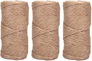 Quotidian 492 Feet (c. 164 Yards) 1/6 inch 6 ply Natural Jute Garden Twine String Rolls for Packing Materials, Artworks Cr...