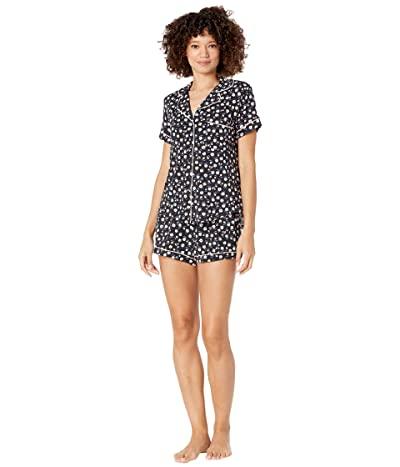 Kate Spade New York Modal Jersey Notch Collar Shorty PJ Set (Ditsy Blossom) Women